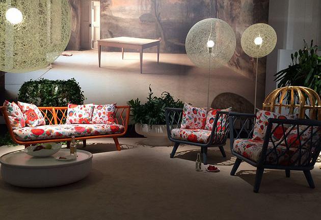 Tak kolekcja prezentowała się na ekspozycji Moooi na tegorocznych targach w Mediolanie.