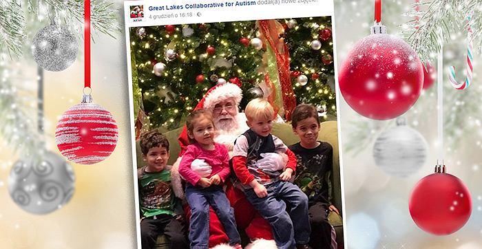 Autystyczne dzieci w końcu miały szansę na spotkanie z Mikołajem