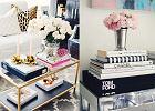 Książki o modzie i dizajnie - sposób na stylizację stolika