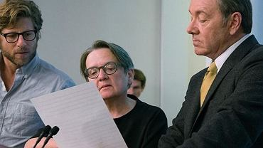 Agnieszka Holland i Kevin Spacey na planie 'House of Cards'.