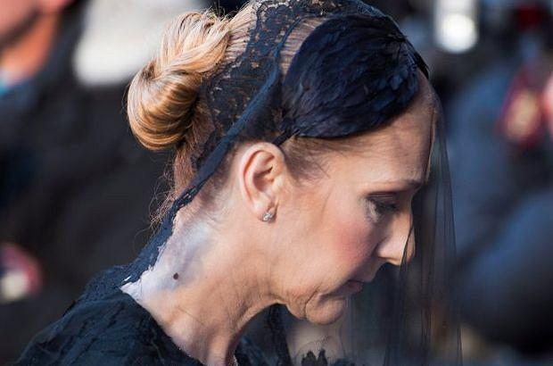 Celine Dion na pogrzebie męża