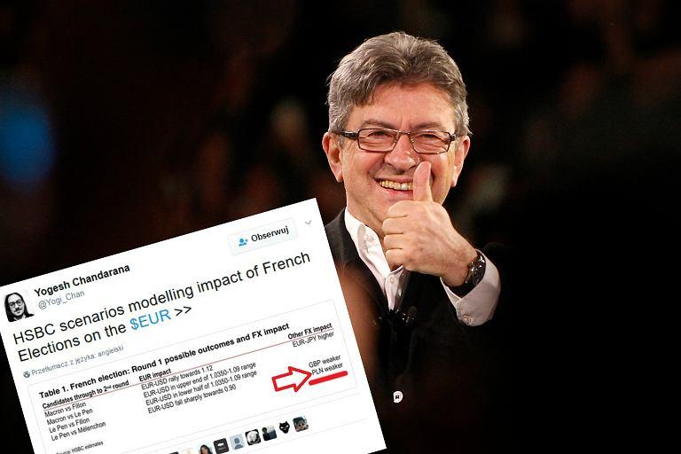 Jean-Luc Melenchon może zamieszać w wyborach we Francji