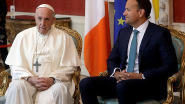 Papież Franciszek i premier Irlandii Leo Varadkar.
