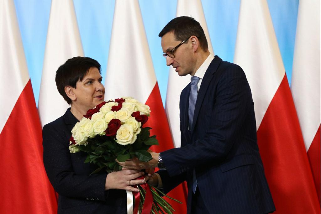 Beata Szydło i Mateusz Morawiecki
