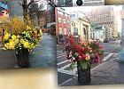 Kwiatowe instalacje na ulicach Nowego Jorku.