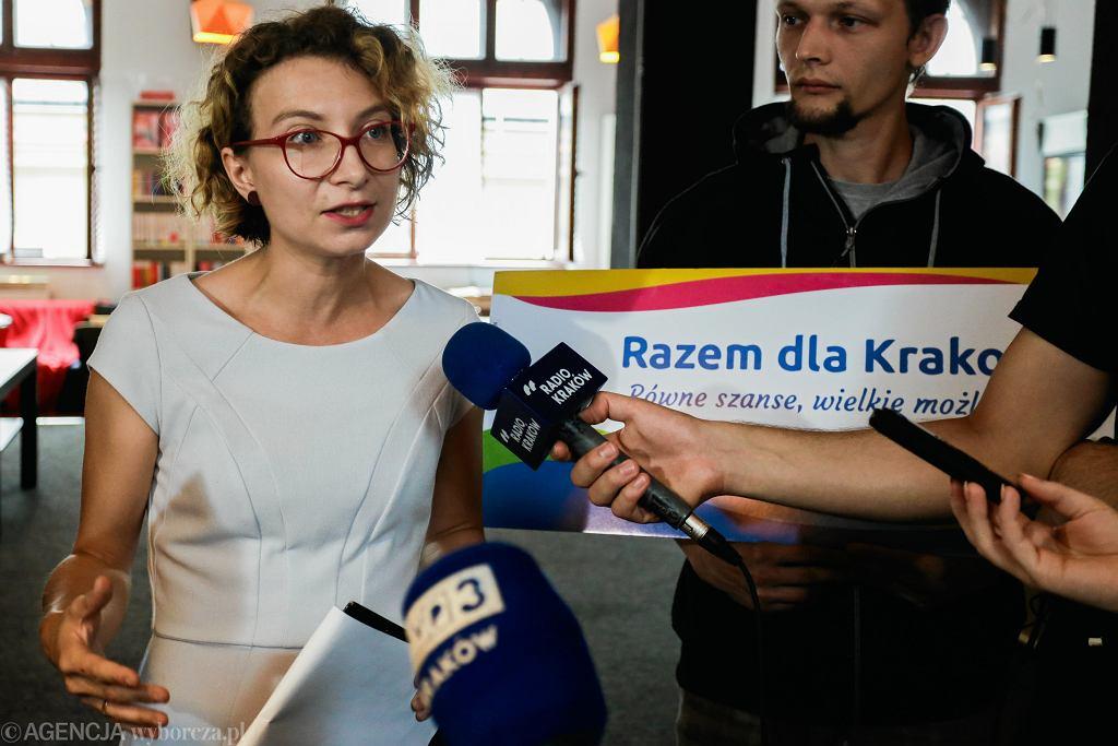 Daria Gosek-Popiołek, kandydatka partii Razem