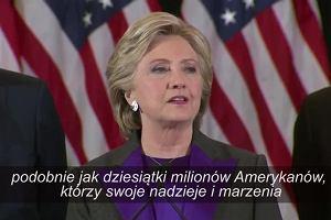 Wybory w USA. Hilary Clinton: To boli i będzie bolało jeszcze długo