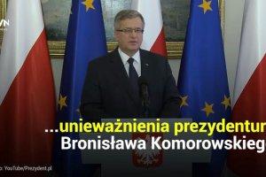 Solidarno��'80 chce uniewa�nienia prezydentury Bronis�awa Komorowskiego. Bo si� przej�zyczy�...