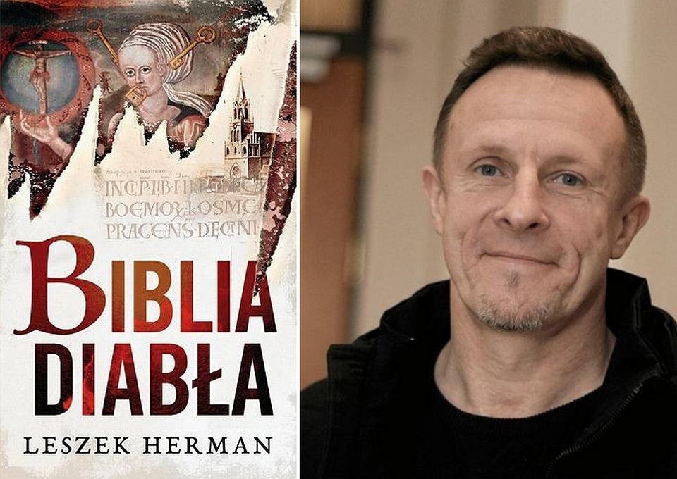 Okładka powieści 'Biblia diabła' i autor Leszek Herman