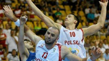 Marcin Gortat i Mateusz Ponitka