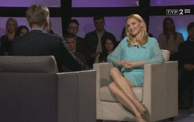 """Serialowa Anna German niczym Sharon Stone w """"Nagim instynkcie""""! Zobacz, jak wygl�da�a w programie Tomasza Lisa"""