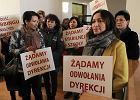Strajk w szkole. W Konopczyńskim nie ma lekcji. Była za to nowa minister edukacji [WIDEO]