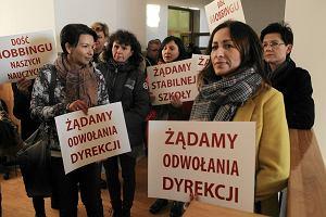 Strajk w szkole. W Konopczy�skim nie ma lekcji. By�a za to nowa minister edukacji [WIDEO]