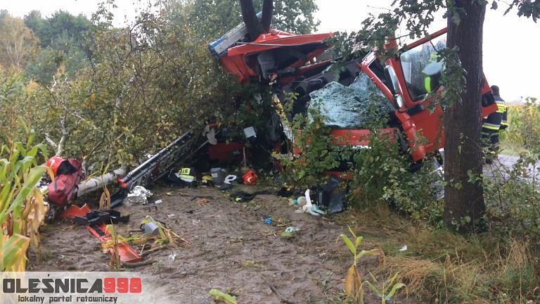 Wypadek strażaków z Sycowa