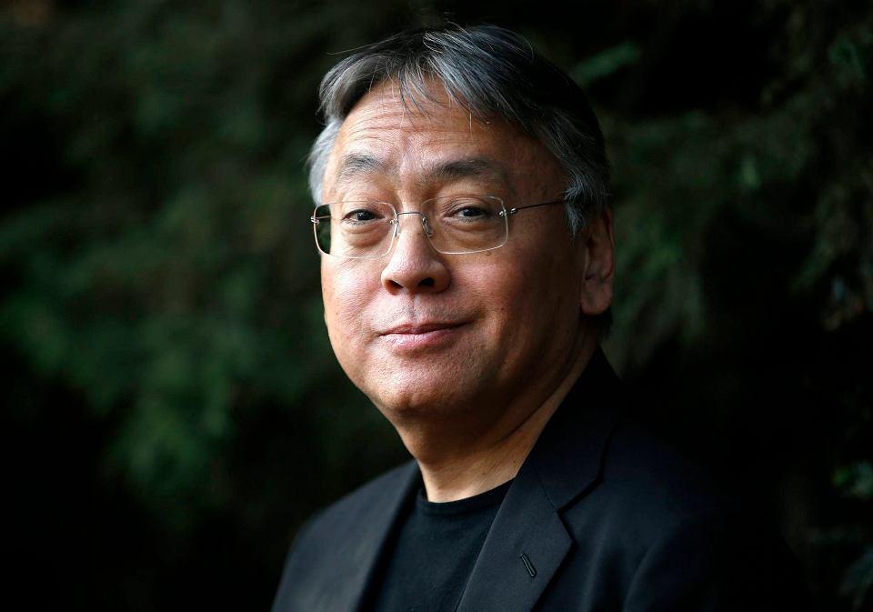 Kazuo Ishiguro na pierwszej konferencji prasowej po ogłoszeniu go laureatem literackiego Nobla 2017
