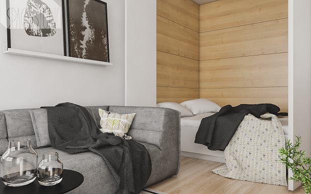 Zdjęcie numer 4 w galerii - Małe mieszkanie pomysłowo urządzone. 29 metrów i oryginalny aneks sypialny