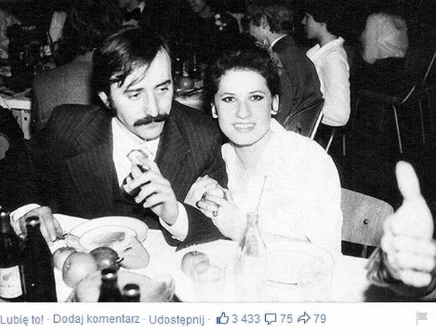 Andrzej Pietras i Beata Kozidrak na jej balu maturalnym w III LO w Lublinie