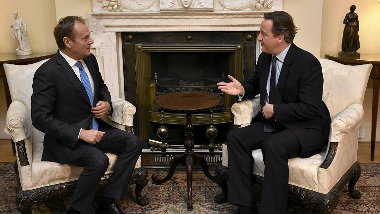 Tusk i Cameron rozmawiają o Unii Europejskiej