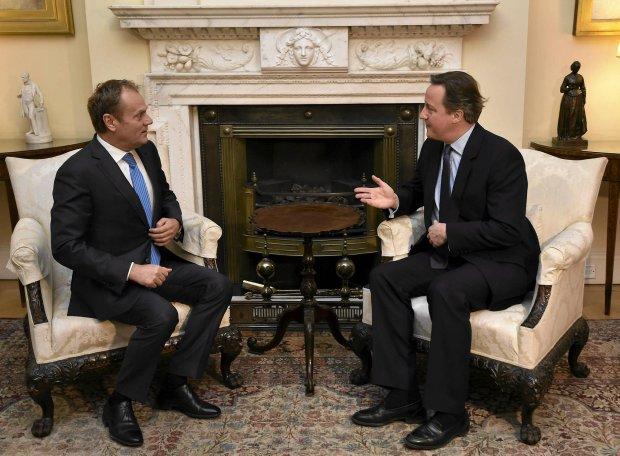 Tusk i Cameron rozmawiaj� o Unii Europejskiej