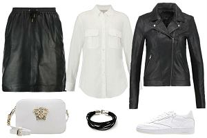 Czarne ubrania ze skóry - must have na jesień