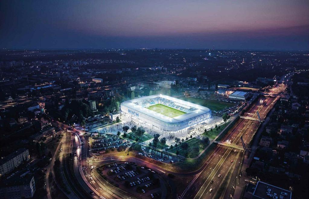 Projekt nowego stadionu Ruchu Chorzów