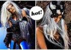 """Rihanna w platynowej peruce, ca�a w pi�rach, koronkach i w niesamowitej bi�uterii w sesji dla """"Tush Magazine"""" - wow! [ZDJ�CIA]"""