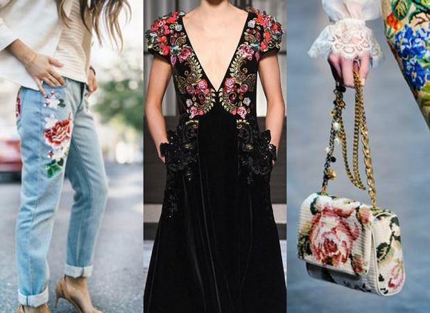 Ubrania i dodatki ozdobione haftem - najciekawsze modele