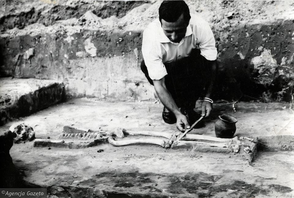 Wykopaliska na Piotrówce w 1966 r.
