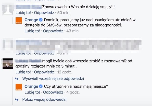 Orange - Awaria