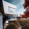 Black&White- dom pi�trowy z ogrodem