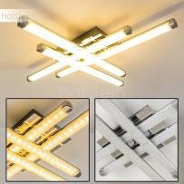 ISKUT lampa sufitowa LED Chrom, 4-punktowe - Nowoczesny - Obszar wewnętrzny - Deckenleuchte - Czas dostawy: od 2-4 dni roboczych