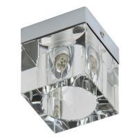 PP P Design P 1083/1 PLAFON NOWOCZESNA LAMPA SUFITOWA KOSTKA NATYNKOWA CHROM SZKŁO KRYSZTAŁOWE G9 LED