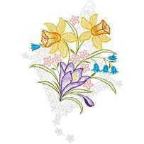 plauner koronka obraz na okno, wiosna motyw z koronką, 22x 33cm