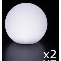 GLOBO OUT - 2 Lampy zewnętrzne Białe ?40cm