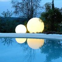 GLOBO OUT - 2 Lampy zewnętrzne Białe ?60cm + ?40cm
