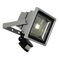 LED FLOOD - Projektor zewnętrzny LED Czujnik Srebrny 30W Wys.26,5cm