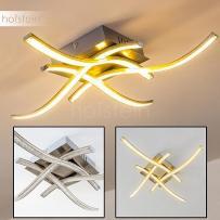 Kelowna Lampa sufitowa LED Nikiel matowy, 1-punktowy - Nowoczesny - Obszar wewnętrzny - Kelowna - Czas dostawy: od 2-3 tygodni