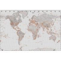 Mapa świata Pomysłowa Dekoracja Wnętrza Dla żyjących Aktywnie