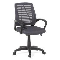 Krzesło biurowe szare - meble biurowe - fotel komputerowy - MAYOR