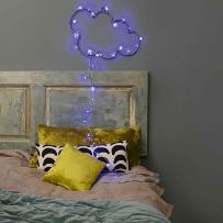 NUAGE - Chmura LED Niebieska Indoor/Outdoor Dł.55cm