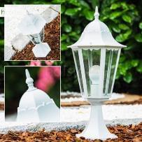 lampa słupek Biały, 1-punktowy - Nowoczesny/Design - Obszar zewnętrzny - 1334L - Czas dostawy: od 2-4 dni roboczych