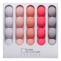 NINA - Girlanda świecąca Premium LED Szary/Różowy Dł.3,2m