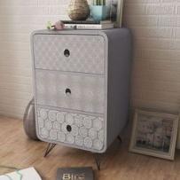szara szafka stojąca z 3 szufladami marki Vidaxl