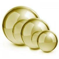 Blumfeldt golden Globe stal nierdzewna kula ogrodowa ozdobna zestaw 3 sztuki złoty 13/20/28 cm