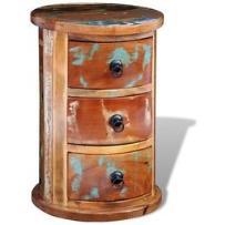 sekretarzyk vintage, szafka z trzema szufladami marki Vidaxl