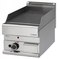 Płyta grillowa gładka gazowa nastolna | 5,7kw | 400x650x(h)280mm marki Grafen