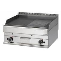 Płyta grillowa gładka/ryflowana gazowa nastolna | 11,4kW | 700x650x(H)280mm