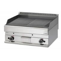 Płyta grillowa ryflowana gazowa nastolna | 11,4kW | 700x650x(H)280mm