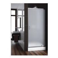 drzwi nigra 80 wnękowe, profile chrom, szkło satinato 103-091112 od producenta Aquaform