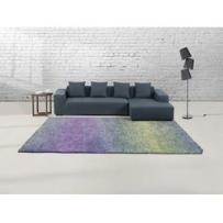 Dywan niebiesko-fioletowy - 200x300 cm - Shaggy - poliester - SOMA - produkt z kategorii- Dywany
